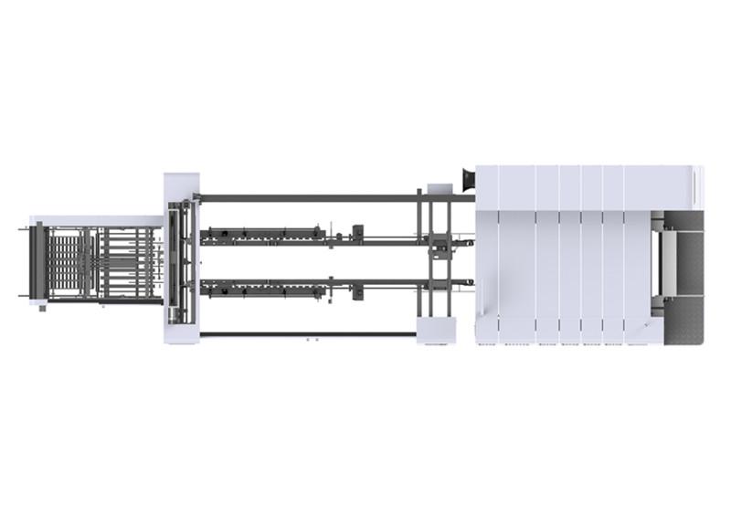 全吸伺服印刷粘箱联动线