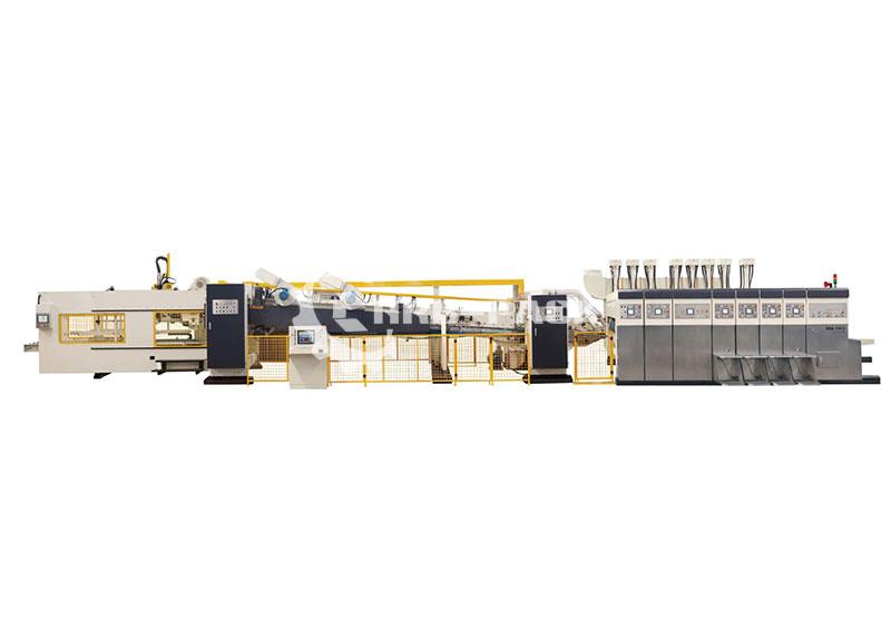 自动高速印刷折叠粘箱联动线