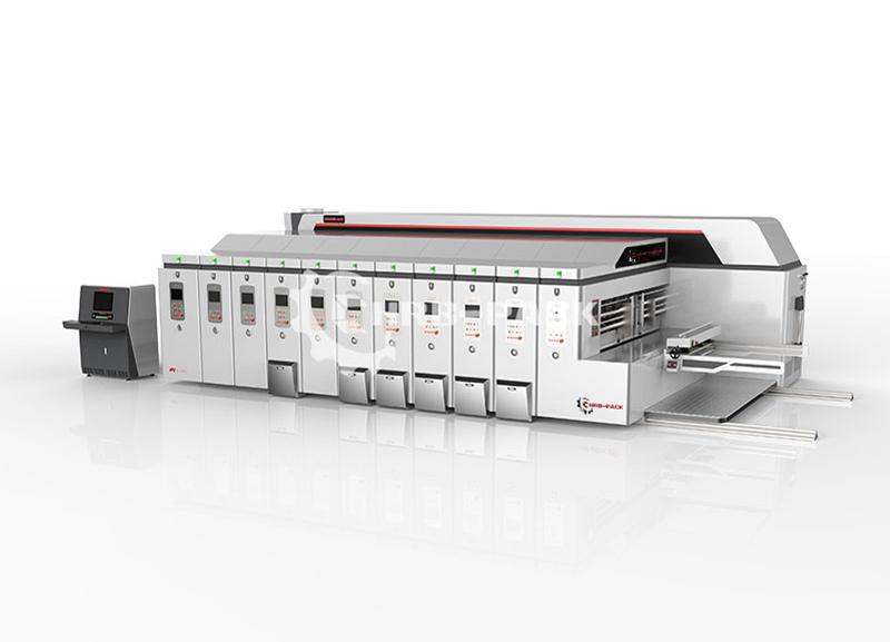 全程真空吸附高清印刷开槽模切堆码机